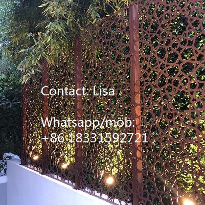 Function of laser cut sheet-wall fence